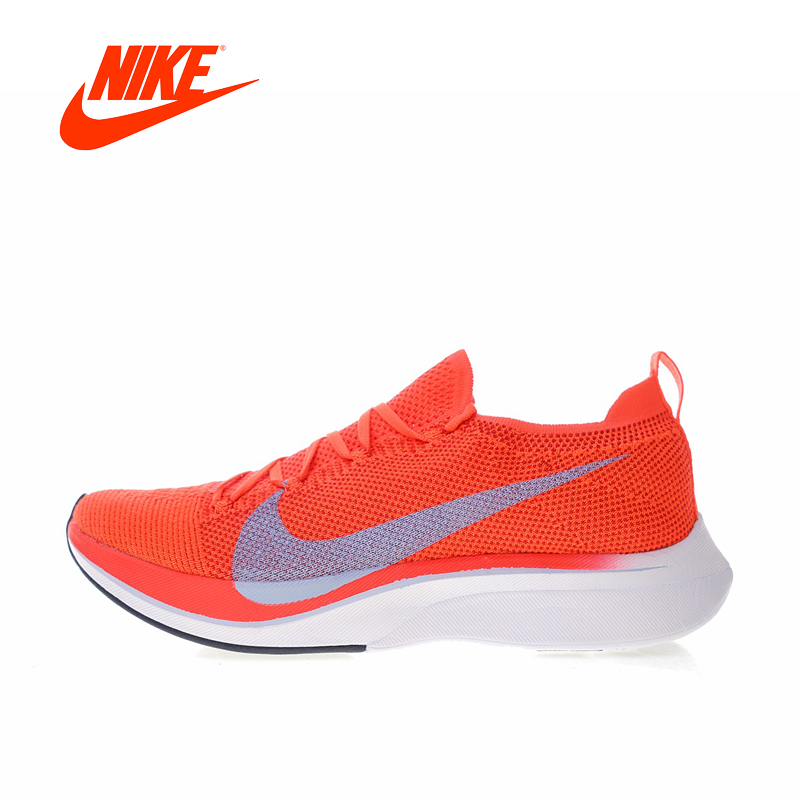 2018 Original Nike Vaporfly Flyknit 4% Women's Running Shoes AJ3857-600Outdoor Jogging Stable Breathable gym Shoes кроссовки nike free 4 0 flyknit