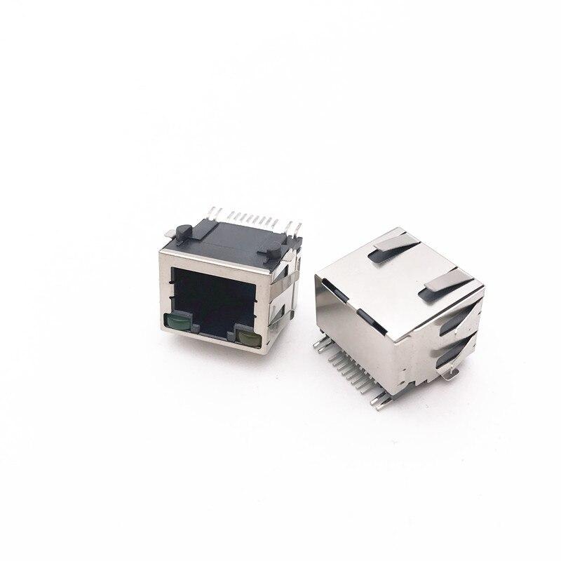 20pcs/lot 56+LED Laptop Network Port LAN Interface RJ45 Jack Internet socket SMT with Shrapnel