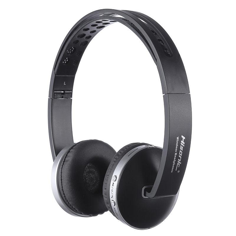 Hisonic Auriculares Bluetooth Auriculares inalámbricos estéreo plegable Auriculares de deporte juego MICRÓFONO INALÁMBRICO Auriculares Audifonos