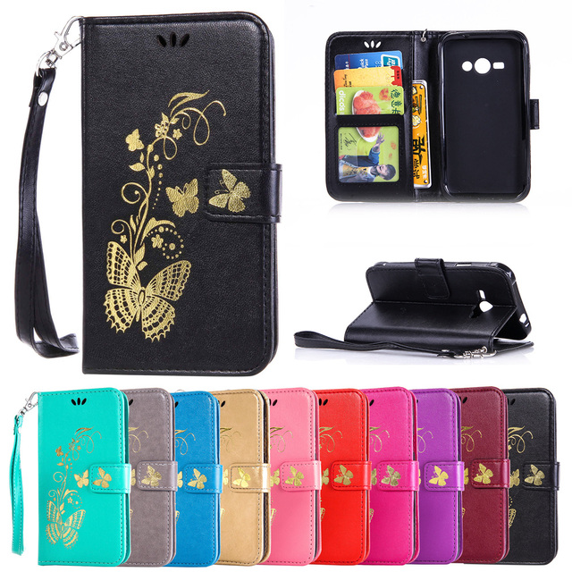 Case for Samsung Galaxy J1 Ace J1ace Neo VE J110H/DS SM-J110H/DS J110H SM-J110H J111F/DS SM-J111F/DS Flip Phone Leather Cover