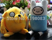 New arrival,2 pcs/set Adventure time Plush Toys, Finn and Jake Stuffed Movice Cartoon Toy ,Anime Cartoon toys for kids