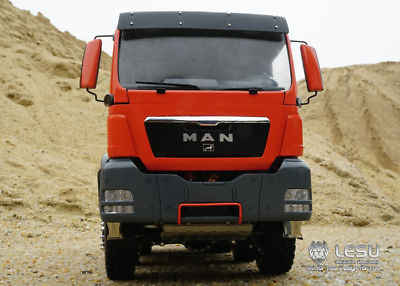 LESU 1/14 MAN TGS 8*8 volquete hidráulico RC camión rodillo On/Off Tipper Tmy sin mando a distancia TH01997