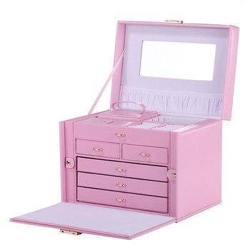 Pink Large Jewelry Box  Ring Organizer