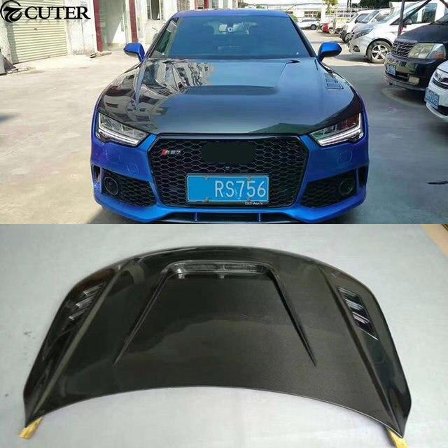 A7 RS7 Car Body Kit Carbon Fiber Engine Hood For Audi A7