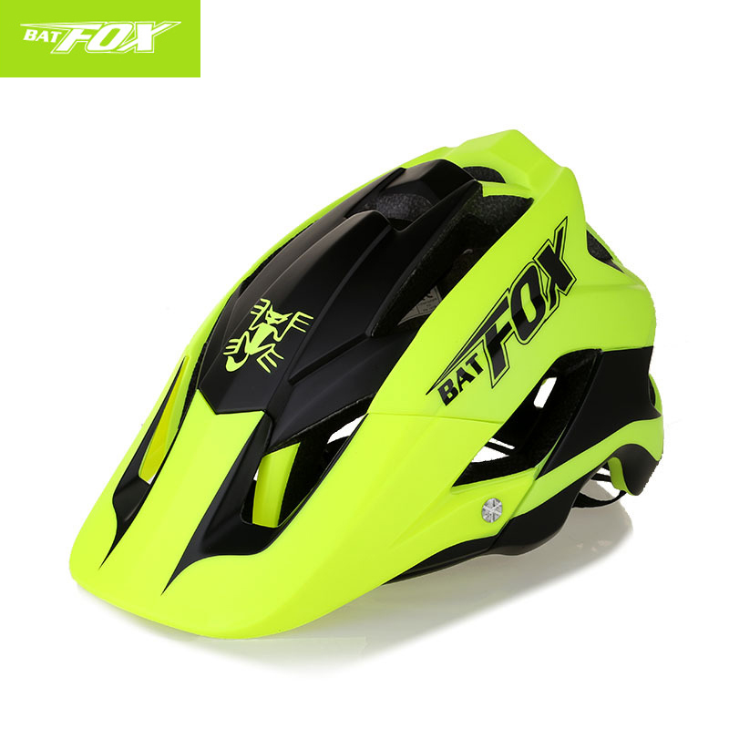 Bicycle Cycling Helmet Mountain Road Bike Helmet Safety Outdoor Sports Lightweight Sun Big Visor Helmet Casco Ciclismo BAT FOXBicycle Cycling Helmet Mountain Road Bike Helmet Safety Outdoor Sports Lightweight Sun Big Visor Helmet Casco Ciclismo BAT FOX