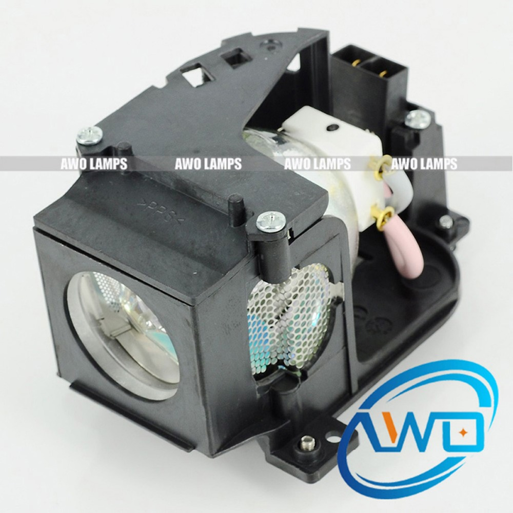 AWO POA-LMP122 Original Projector Bulb with Housing for SANYO PLC-XW57/EIKI LC-XB21B poa lmp129 for eiki lc xd25 projector lamp with housing