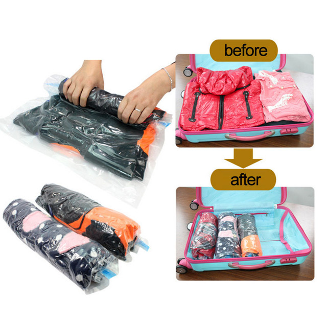Hot Whole Vacuum Compression Bags Traveling Pouch Clothes Holding Special Sealed Bag Finishing Package Travel