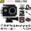 F60/F60R Action camera Allwinner V3 4 K WiFi Remoto 2.0 LCD 170D lente Capacete Extrema Cam ir pro câmera à prova d' água 1080 P/60fps