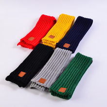 2018 Hot Fashion Lovely Autumn Winter Boys Girls Baby Kid Solid Scarf Warm Knitted Scarves 1PC Women Scarf cheap Cashmere Acrylic Cotton Geometric E0619 Children NCC Ning Cheng 8 Colors to Selection 1 pcs bag