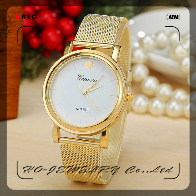 Online Wrist Watch Cheap Big Watches Iron Net Watch Geneva Watches UK Women  Steel Mesh Cheap 2e61105df