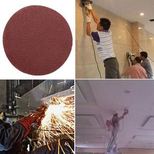 Image 4 - Red Circular Polishing Discs 5pcs 10pcs 125mm With Grits Felt Wheel Polishing Sharpening Sand Paper Tool Accessories