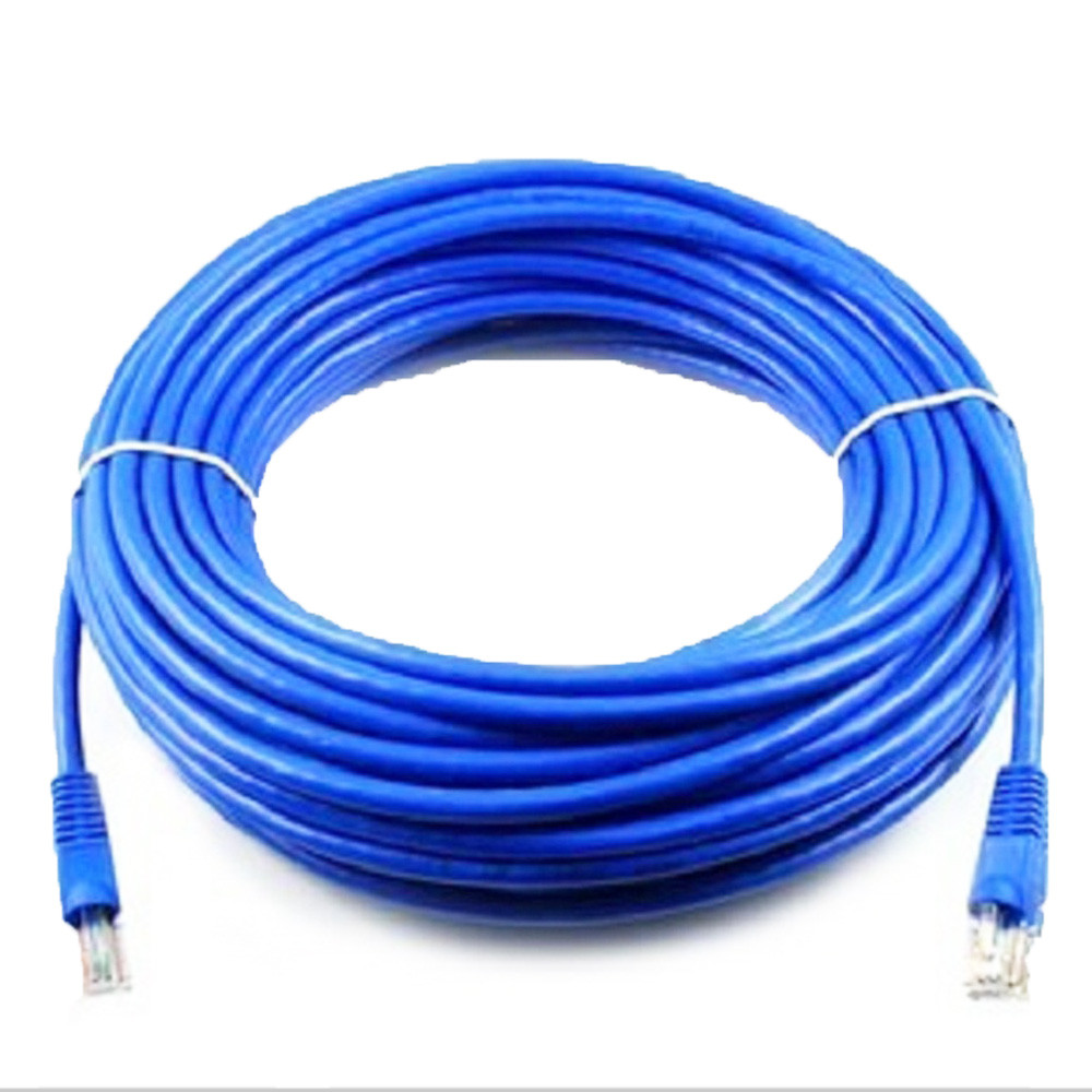 HIPERDEAL 50 FT RJ45 CAT5 CAT 5 High Speed Ethernet Lan Network Blue Patch Cable