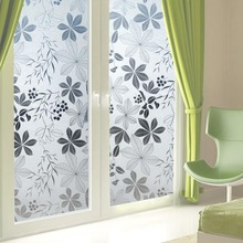 window film Static translucent glass screen privacy toilet leaf sticker Dormitory balcony