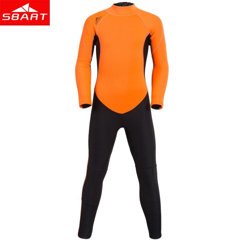 SBART nouveau 2mm néoprène enfants combinaison maillots de bain une pièce à manches longues plongée surf combinaison humide garçons et filles crème solaire combinaisons de plongée