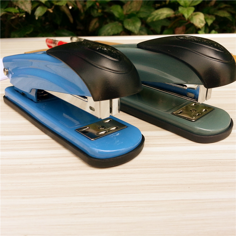 24/6staples Metal stapler  Heavy thick material durable  Good partner of bookbinding comix durable 50 page 12 stapler w staples blue 3 pcs