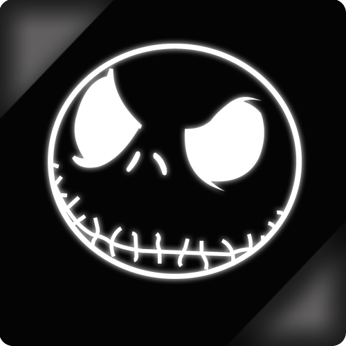Car stickers nightmare before christmas evil jack skellington car window sticker decal 20cm xc