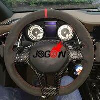 Car Carbon Fiber Steering Wheel Trim For Mercedes Benz A C E CLA CLS SLK W176 W204 W117 W212 W207 W218 R172 R231