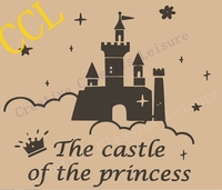 Princess Wall Decal Large Size Castle Vinyl Wall Stickers For Baby Girl Nursery Or Girls Room