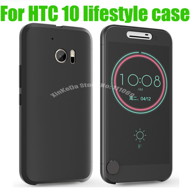Official Case for HTC One M10 Smart Flip Cover CAPAS for HTC 10 Lifestyle EVO Full Window Ice View Touchable Visible Shell
