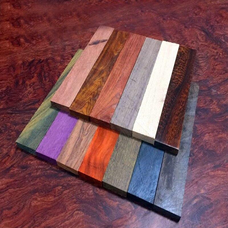 180*30*10MM  DIY Knives Handle Material Ebony Rosewood Wenge Millettia Laurentii Padauk Palo Rosa Snakewood Cordia Elaeagnoides