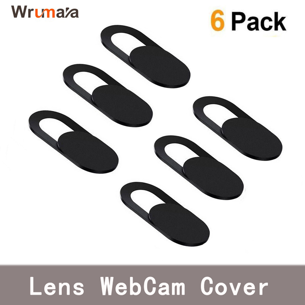 6PCS Universal WebCam Cover Shutter Magnet Slider Plastic Camera Cover For IPhone PC Laptops Mobile Phone Lens Privacy Sticker(China)