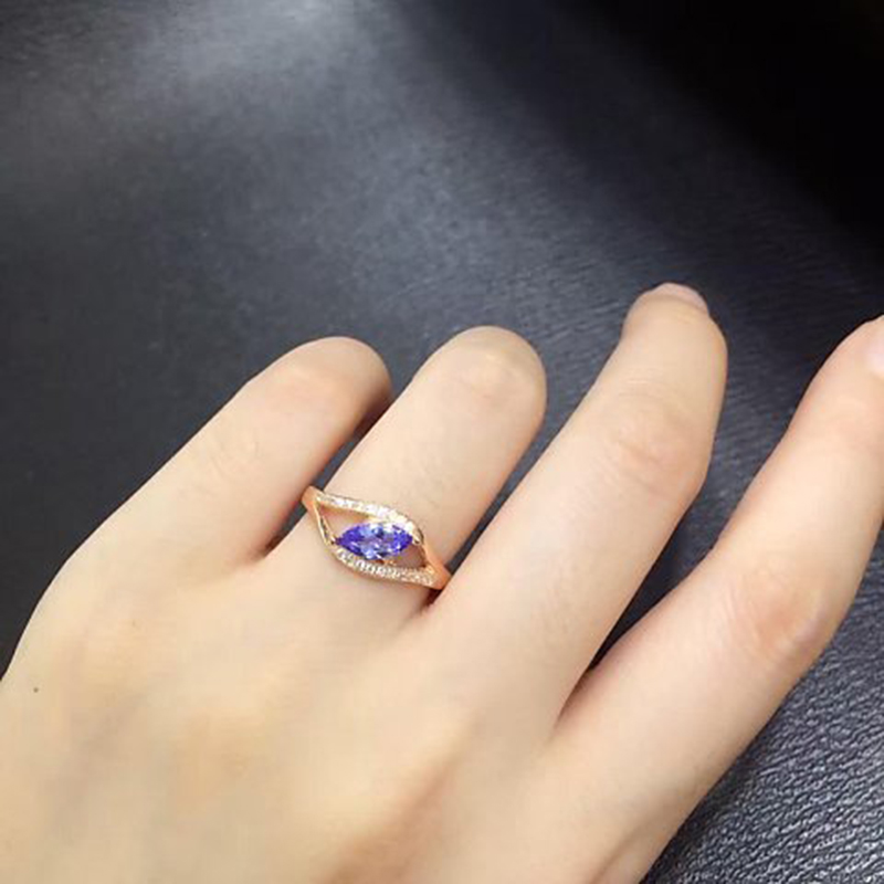 2017 Rushed Sale Qi Xuan_Fashion Jewelry_Blue Stone Simple Rings_Rose Gold Color Blue Stone Woman Rings_Factory Directly Sales 2017 Rushed Sale Qi Xuan_Fashion Jewelry_Blue Stone Simple Rings_Rose Gold Color Blue Stone Woman Rings_Factory Directly Sales