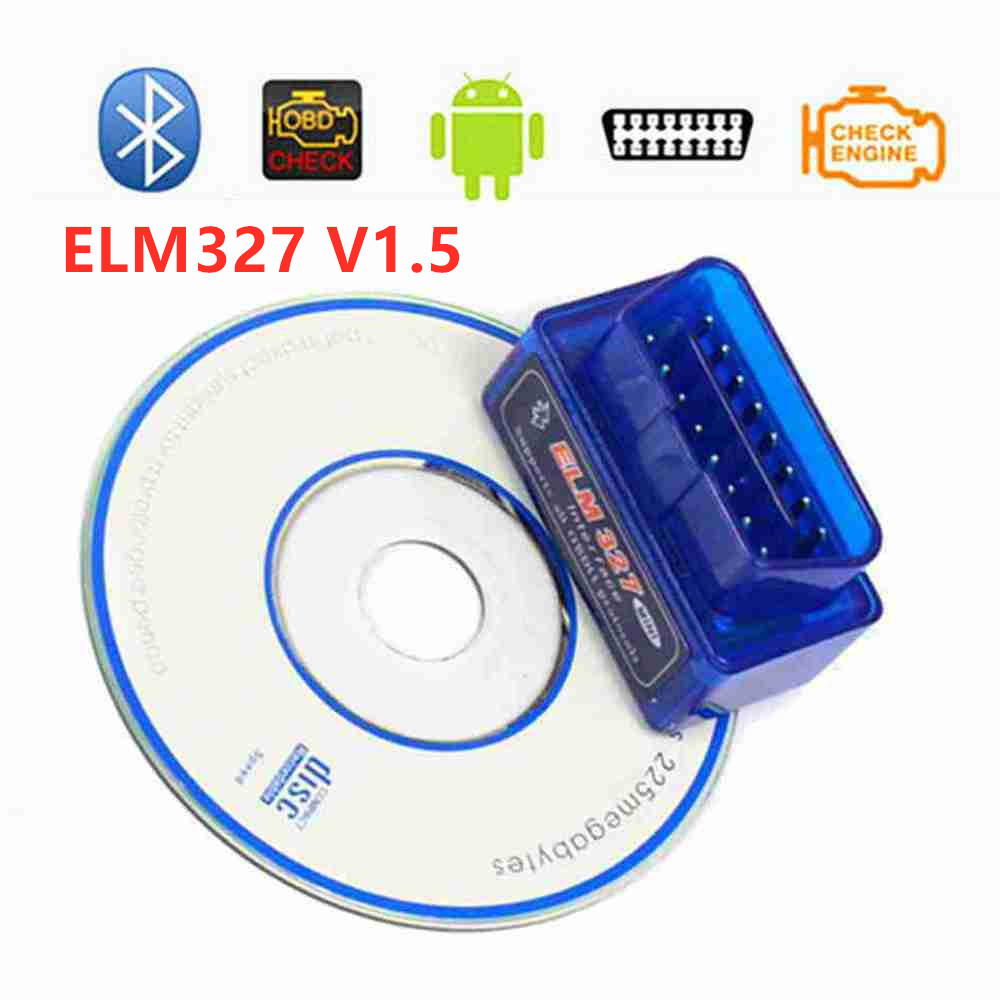 ELM 327 V <font><b>1.5</b></font> Diagnostic Scanner Mini <font><b>Elm327</b></font> Bluetooth For Android Real PIC18F25K80 Chip OBD2 <font><b>ELM327</b></font> V1.5 Car Diagnostic Tool image