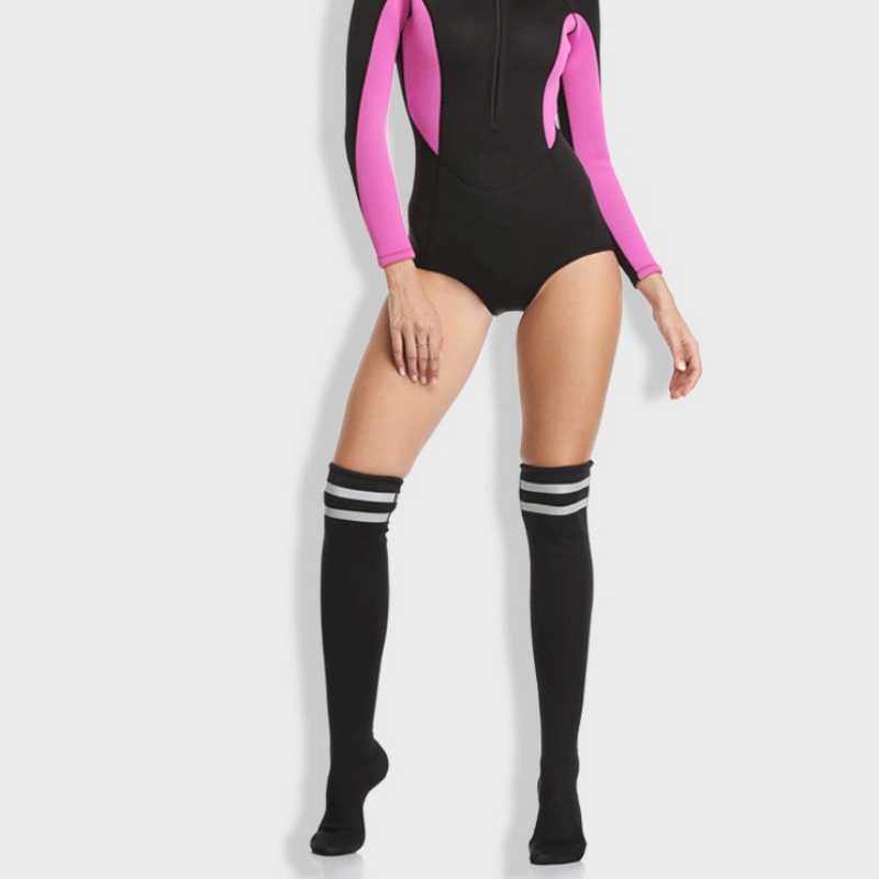 Spor Güneş Koruma Dalış diz Anti-kayma çorap diz boyu çorap uzun namlulu Seksi Bayanlar Dalış Futbol