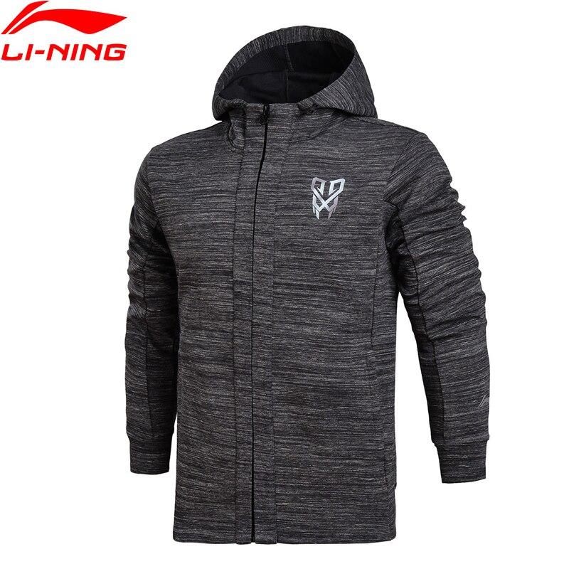 Li-Ning 2018 Men Basketball FZ Knit Hoodie Jackets Regular Fit Professional Fitness Comfortable Li Ning Sports Sweaters AWDN123 li ning men s professional basketball shoes speed
