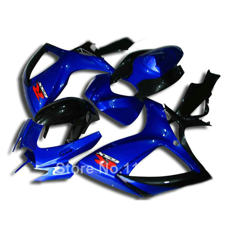 Injection mold fairing kit for SUZUKI GSXR 600 750 K6 K7 2006 2007 blue black GSXR600 GSXR750 06 07 high grade fairings set Q587