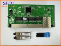 2 Ports SFP+8 Ports RJ45 POE reverse Switch board, with manageable, together with SFP SC port 3km and SC/UPC fast connector