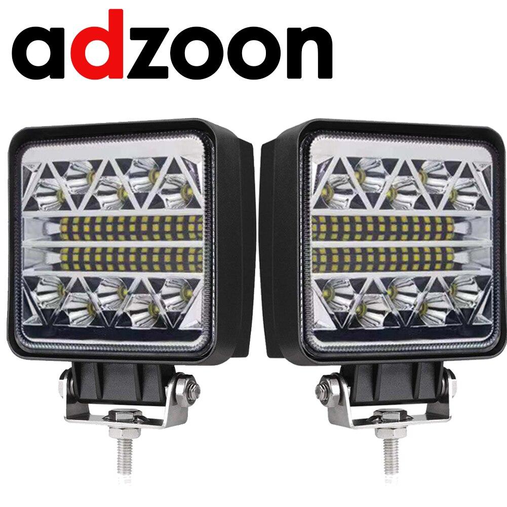 ADZOON 4 polegada 126 w CONDUZIU a Luz do Trabalho 10 30 V 4WD 12 v para Off Road Truck Bus Boat luz de nevoeiro Do Carro Montagem de Luz