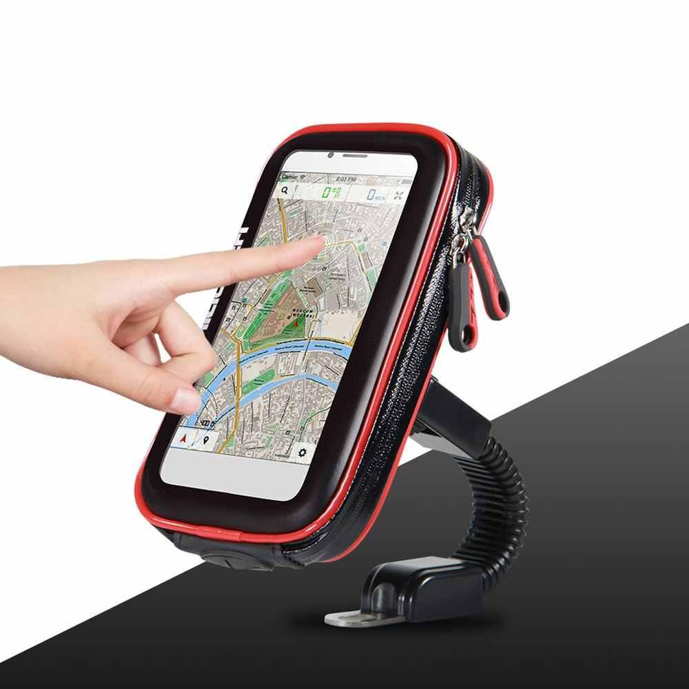 ユニバーサル防水オートバイバイクスクーター携帯電話ホルダーバッグ電話サポートスタンドスマートフォン