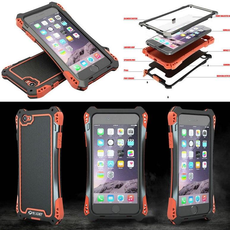 R JUST Case For iphone 7 5 5S SE 6 6S plus 6Plus Luxury Metal Aluminum