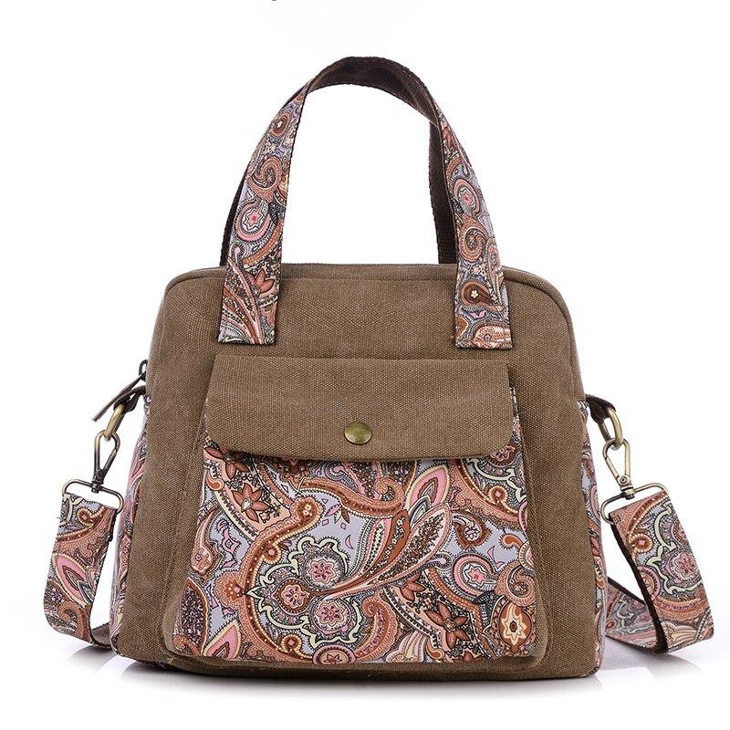 Mini Handbag Satchels Messenger-Bag Crossbody-Bag Canvas Tote Small Vintage Fashion Women
