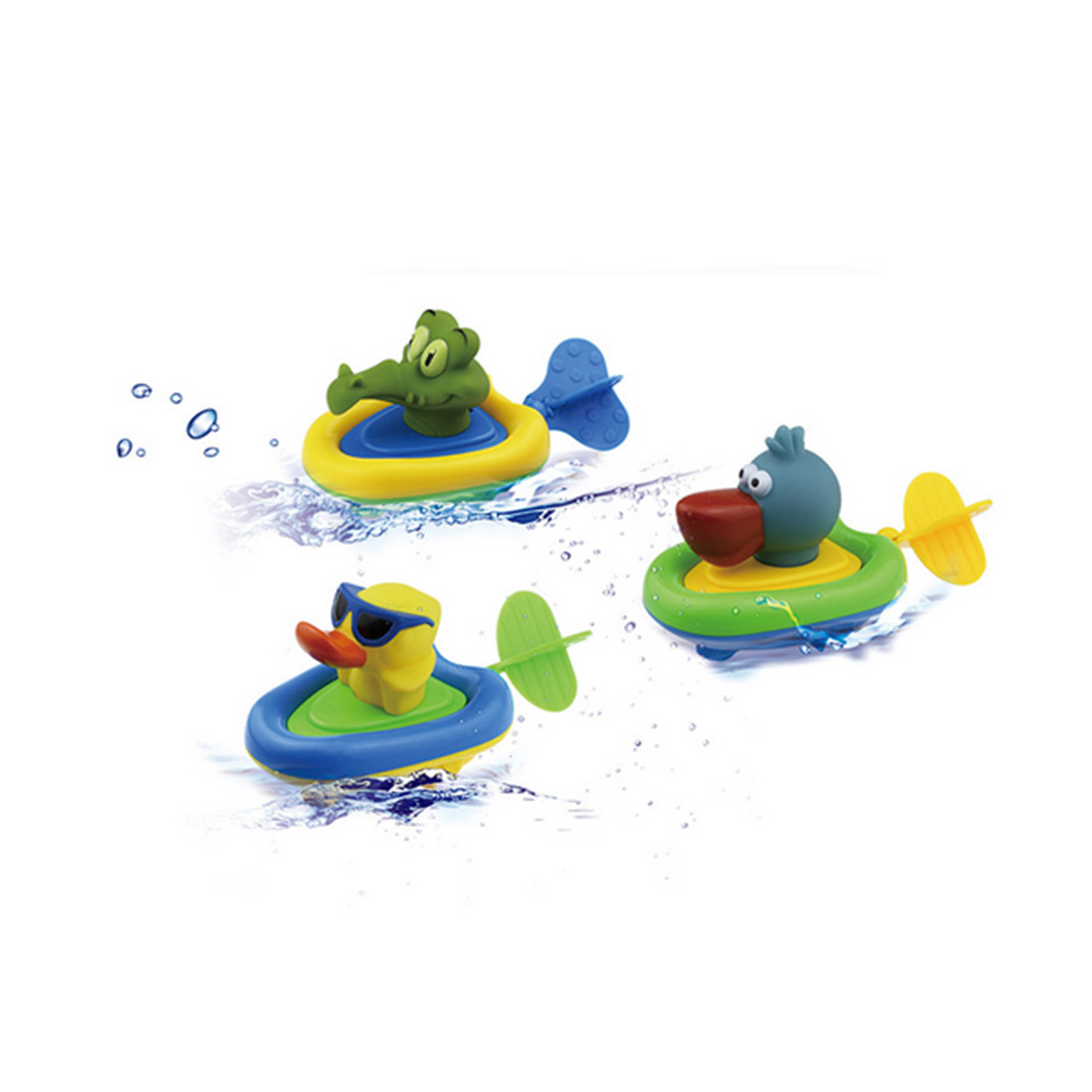 Cute Animal Boat Baby Bath Toy Bracing Wire Clockwork Toy Floating Water Baby Bath Toys Classic Toys for Kids Baby trump duck bath toy shower water floating us president rubber duck baby toy water toy
