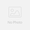 Coswall Luxurious Black Aluminum Panel 16A Triple EU Standard Wall Power Socket 3 Way Outlet Grounded With Child Protective Lock