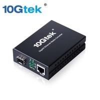 10 Gtek dla Gigabit Ethernet Media Converter, 1.25 Gb/s, SFP Gniazdo do 10/100/1000Base-Tx, bez Transceiver