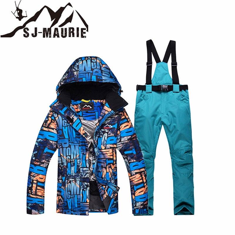 SJ-MAURIE Snowboard Ski costume femmes veste de Ski + pantalon en plein air hiver imperméable coupe-vent neige costumes randonnée Ski veste - 3