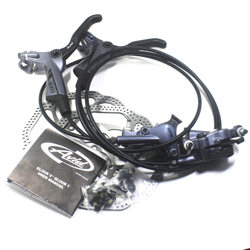 Mtb Bike Disc Brake Set 750/1350 mm Gray AVID ELIXIR 3 Hydraulic Brake With Brake Rotors Bike Brake Parts