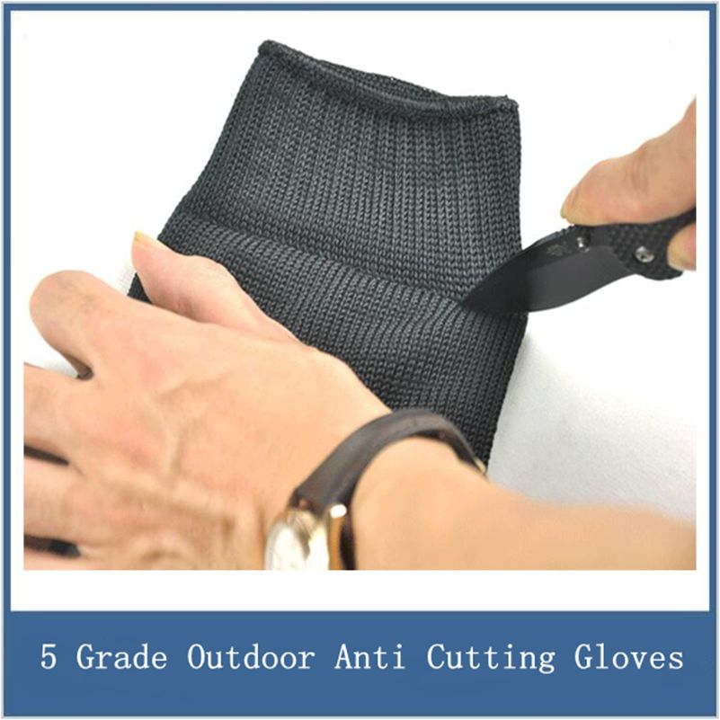 1 Pair New Cut Resistant Gloves, Anti Stab Knife Blade, Anti Cutting, 5 Grade Stainless Steel Wire Gloves, Free Shipping 1pcs safety gloves cut proof stab resistant stainless steel wire metal mesh butcher anti knife