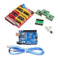 Cnc Shield V3 Engraving Machine 3D Printer 4 X A4988 Drive Expansion Board USB Cable With