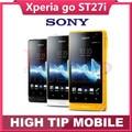 Original Unlocked Sony Xperia go ST27i mobile phone GPS-Wi-Fi-MP3-Bluetooth-3G phone 1 year warranty Refurbished Drop shipping
