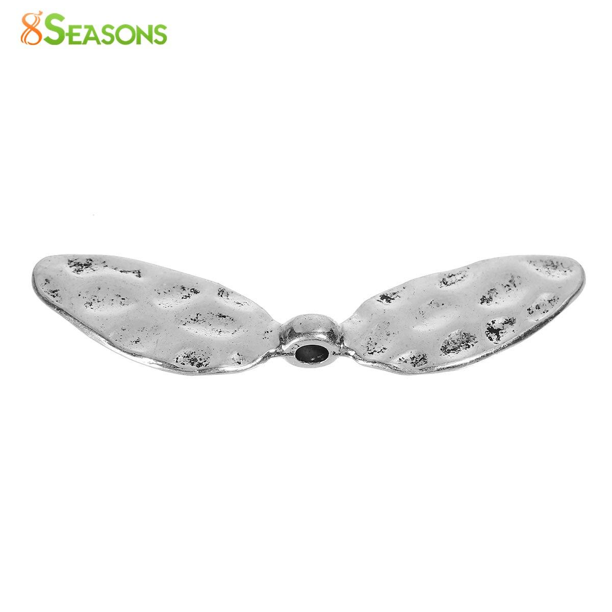 8 сезонов цинковый сплав на основе Spacer Бусины Стрекоза крыла старинное серебро-цвет около 42 мм x 11 мм, отверстие: около 2.5 мм, 30 шт. новинка 2016