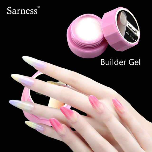 Sarness UV Gel Acrylic for Nail Natural Nude Pastel Color UV Builder ...