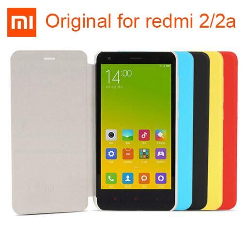 100% Original Xiaomi Redmi 2 2A Leather Case Cover Flip case luxury material genuine xiaomi brand-in Flip Cases from Cellphones & Telecommunications