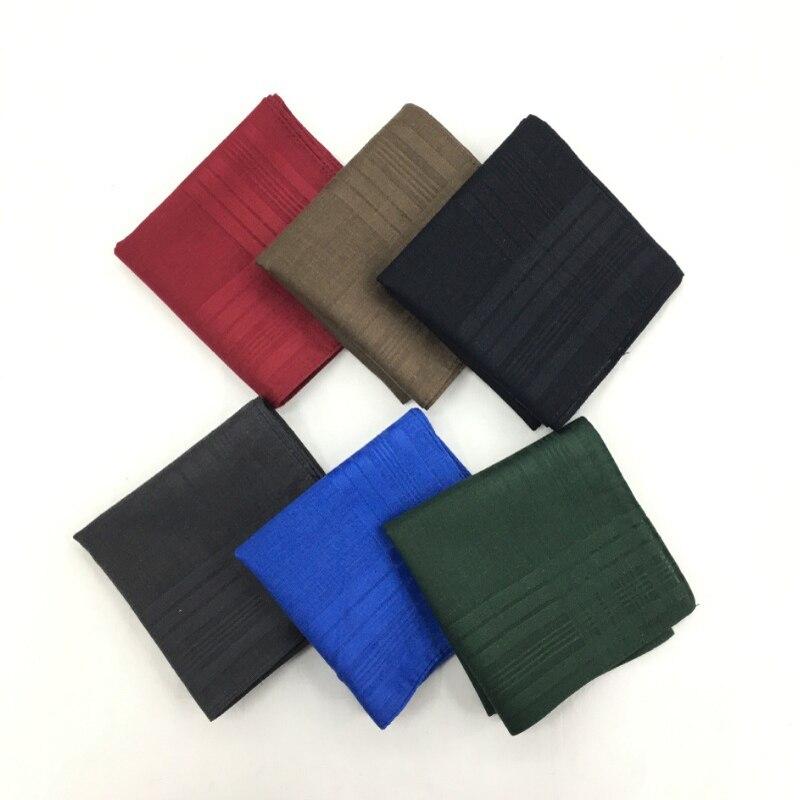 5 Pieces/lot  43*43cm Men Handkerchiefs Cotton 100% Solid Color Hanky Handkerchiefs 43*43 Cm