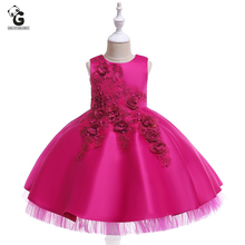 Girls Princess Dresses Kids Clothes Girls Wedding Birthday Party Formal Dress Children Costume Kids Summer Lacy Dress for Girl все цены