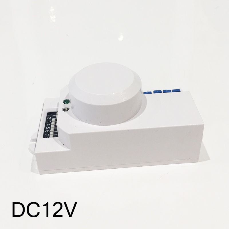 Newest DC12V  PIR switch 5.8GHZ radar sensor switch module smart optical tunable microwave radar sensor switch Free shipping parts leveling sensor photoelectric switch micro optical switch weco k3 optical universal