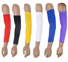 1Pc Sports Safety Basketball Football Volleyball Sports Arm Sleeve Knee Oads Protective Compression Stretch Brace Red/black/blue недорого